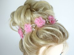 Accesoriu ocazie floricele roz si cristale