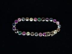 Bratara aurie cristale multicolore