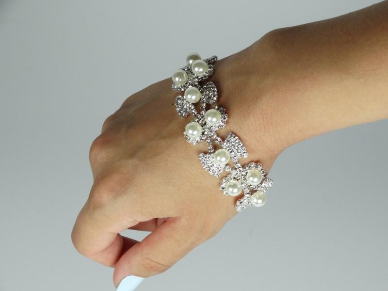 Bratara cristale si perle