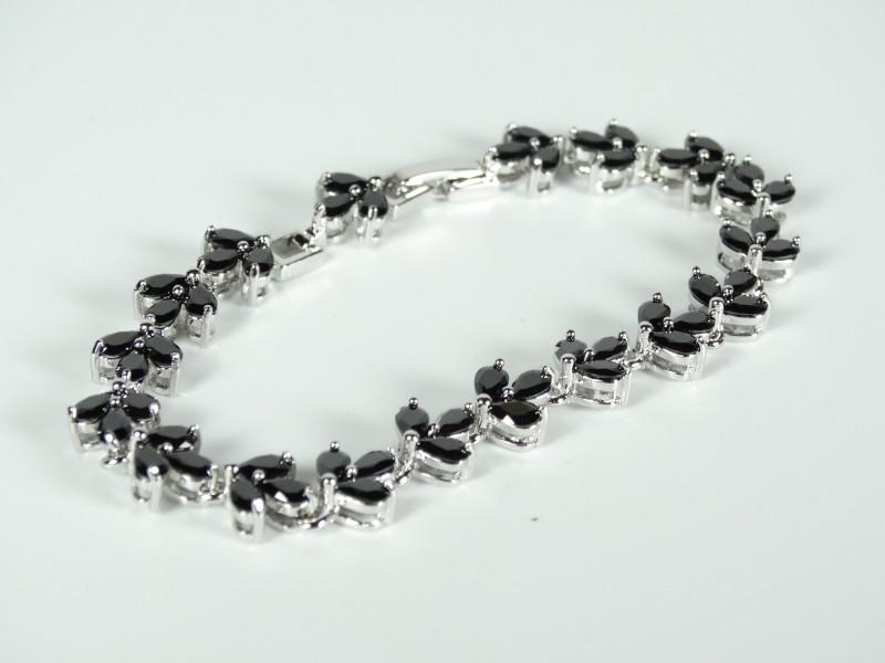 Bratara frunzulite cristale negre
