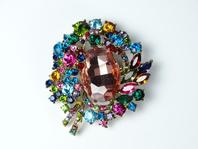 Brosa cristale multicolore