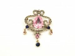 Brosa cristale roz multicolore