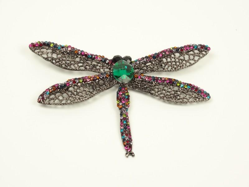 Brosa libelula verde - multicolora