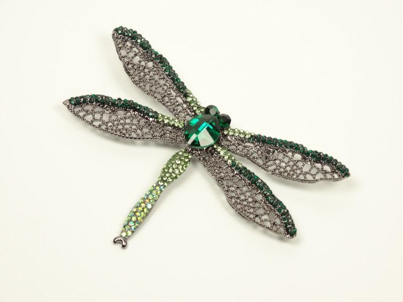 Brosa libelula verde
