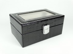 Caseta ceasuri piele neagra