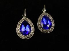 Cercei argintii cristale albastre