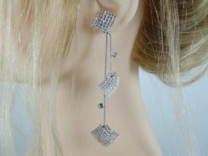 Cercei argintii eleganti
