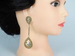 Cercei aurii ocazie cristale galbene