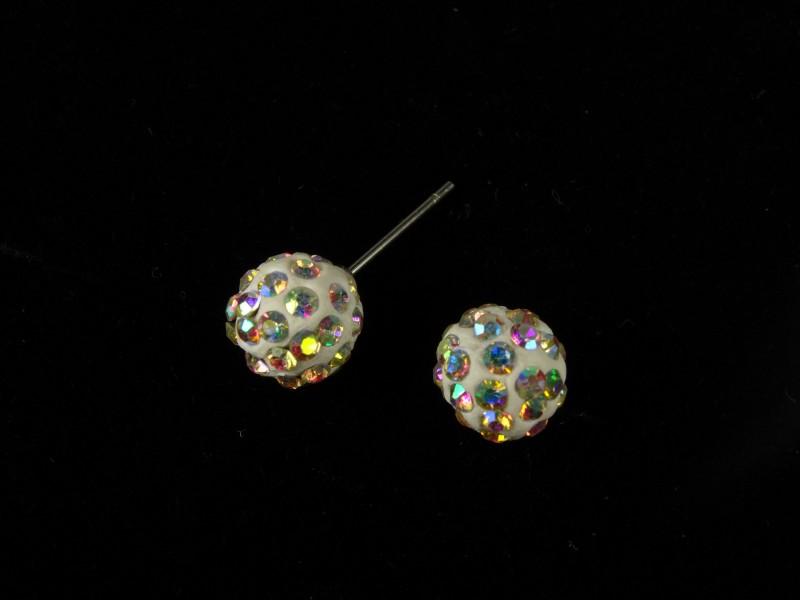 Cercei bobite cristale multicolore