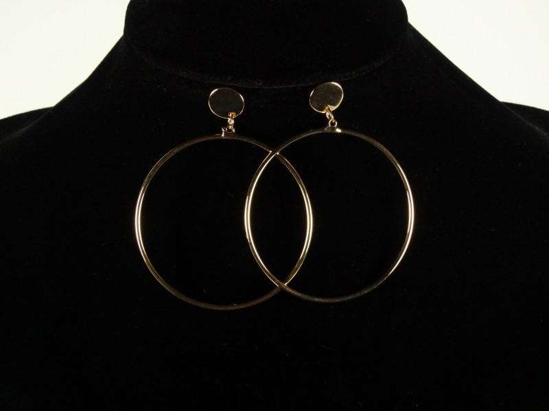 Cercei cercuri mari aurii