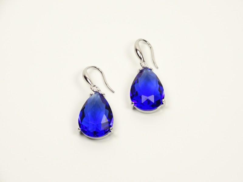 Cercei cristale albastre