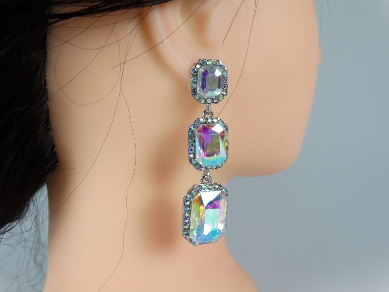 Cercei cristale cameleon