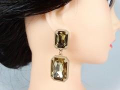 Cercei cristale coniac