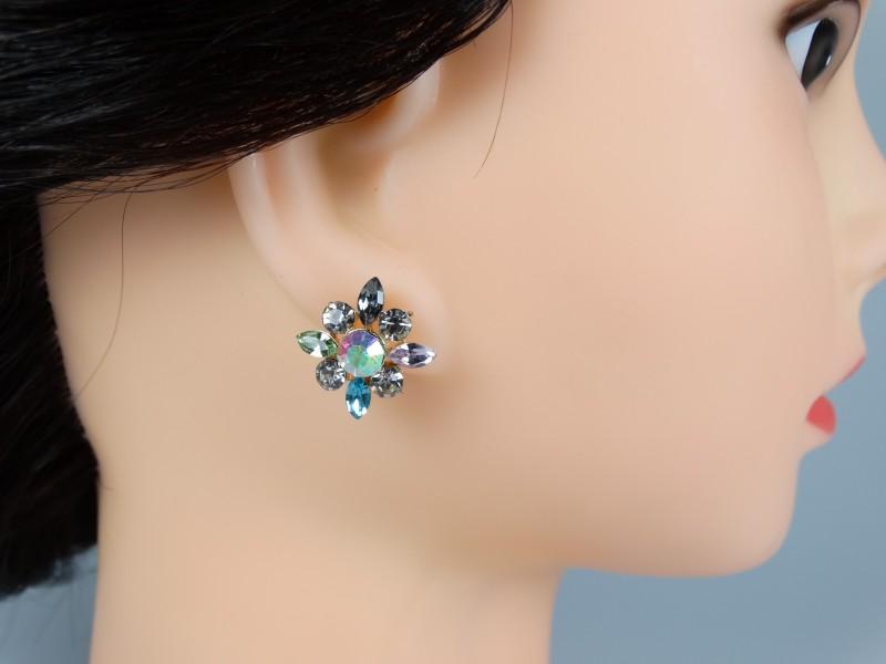 Cercei cristale mici multicolore