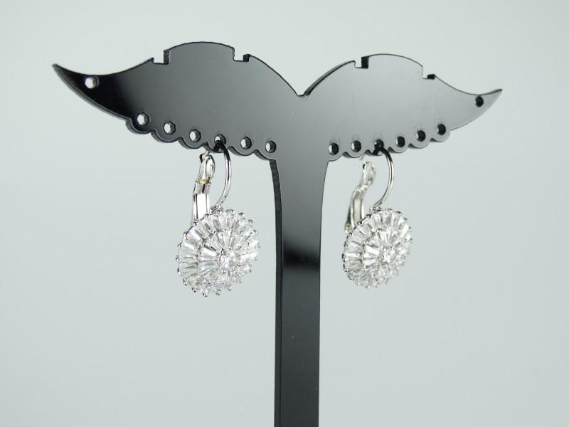 Cercei eleganti argintii cristale