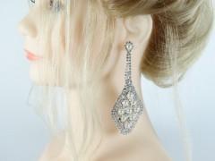 Cercei eleganti argintii perlute