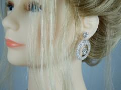 Cercei eleganti argintii rotunzi