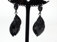 Cercei eleganti cristale negre