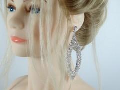 Cercei eleganti ovali cristale