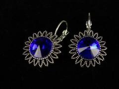 Cercei floricele cristale albastre