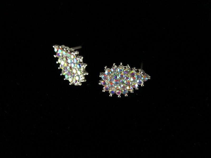 Cercei frunzulite argintii