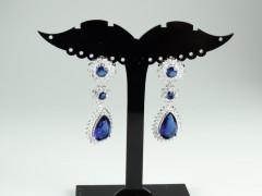 Cercei mireasa - ocazie cristale albastre