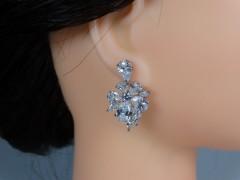 Cercei mireasa - ocazie flori cristale zirconiu
