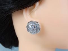 Cercei mireasa - ocazie model floral cristale zirconiu