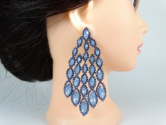Cercei ocazie cristale albastre fantezie