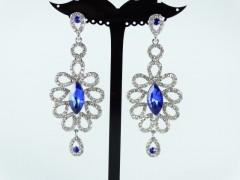 Cercei ocazie cristale albastre