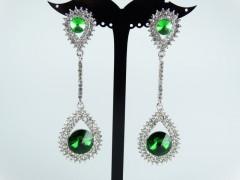 Cercei ocazie cristale verzi