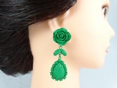 Cercei ocazie model trandafiri verzi