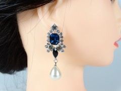 Cercei perle si cristale