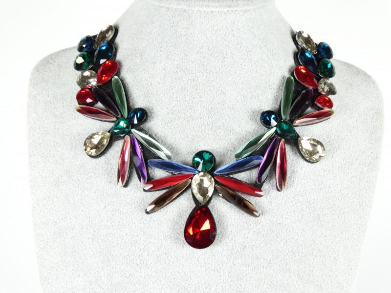 Colier libelule cristale multicolore