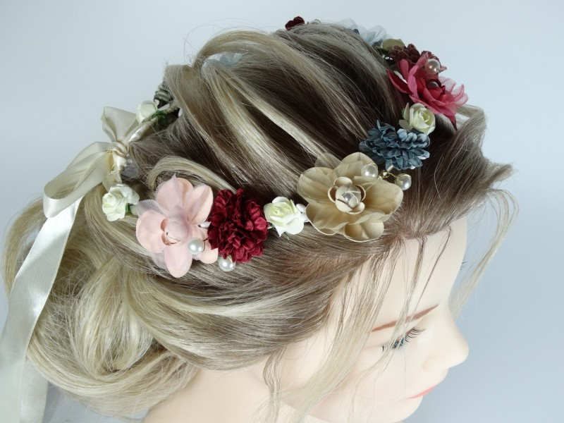 Coronita - cordeluta flori si perlute