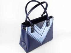Geanta albastra tip shopper