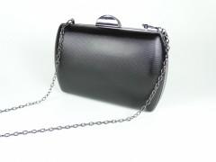 Geanta ocazie tip caseta - negru metalic