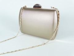 Geanta ocazie tip caseta - rose gold metalic