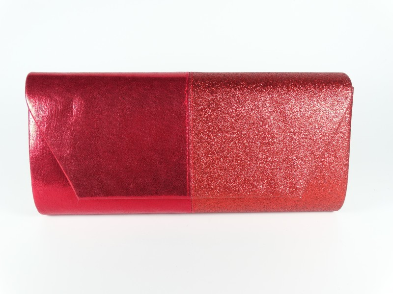 Geanta ocazie tip plic sclipici rosu