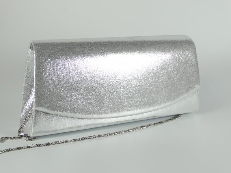 Geanta plic argintie