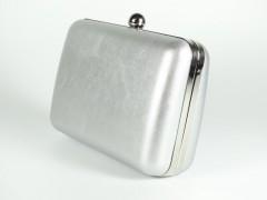 Geanta tip caseta argintie