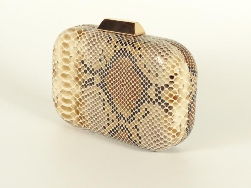 Geanta tip caseta imprimeu piele de sarpe