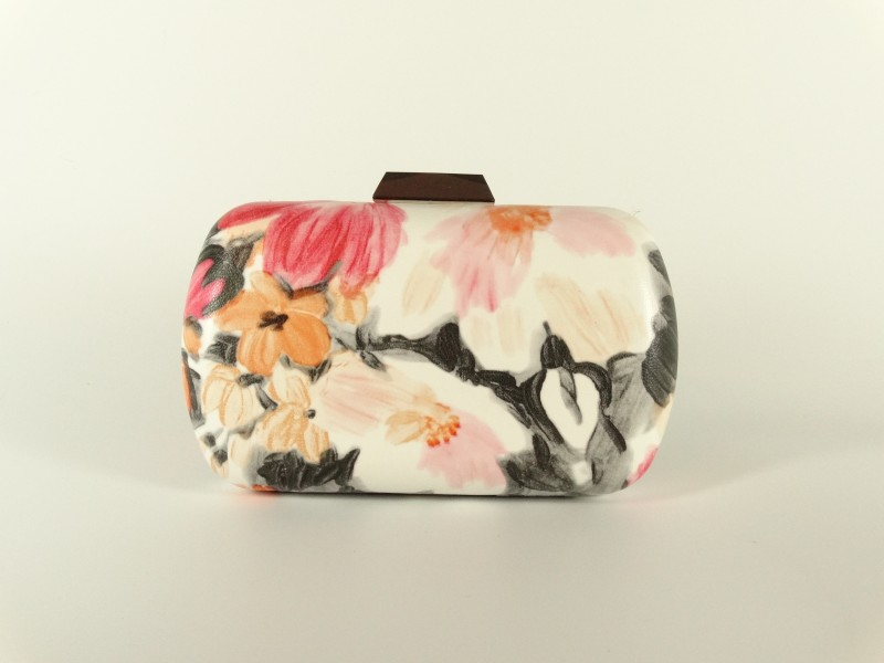 Geanta tip caseta model floral