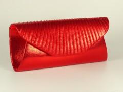 Geanta tip plic pliuri rosii