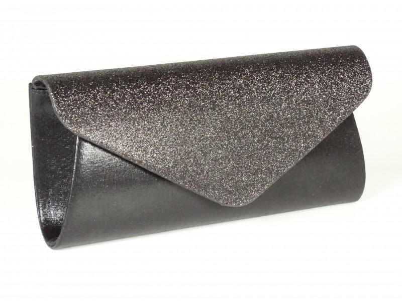 Geanta tip plic sclipici negru