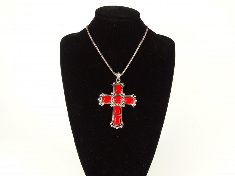 Lantisor cruce pietricele rosii