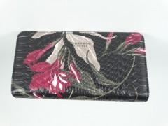 Portofel dama negru modele florale Diana&Co