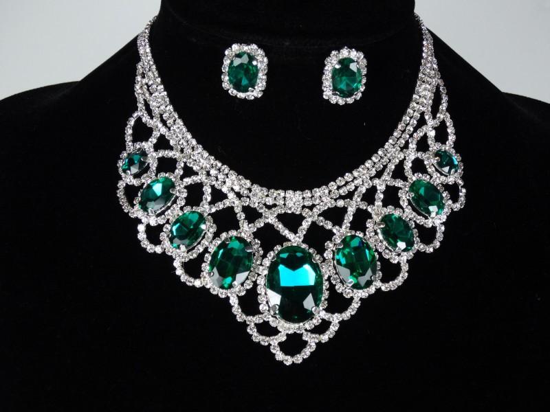 Set ocazie cristale verzi